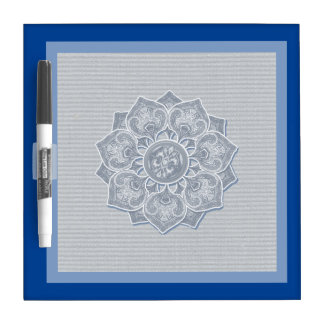 Flower Applique with Jacquard Pick A COLOR Dry Erase Board