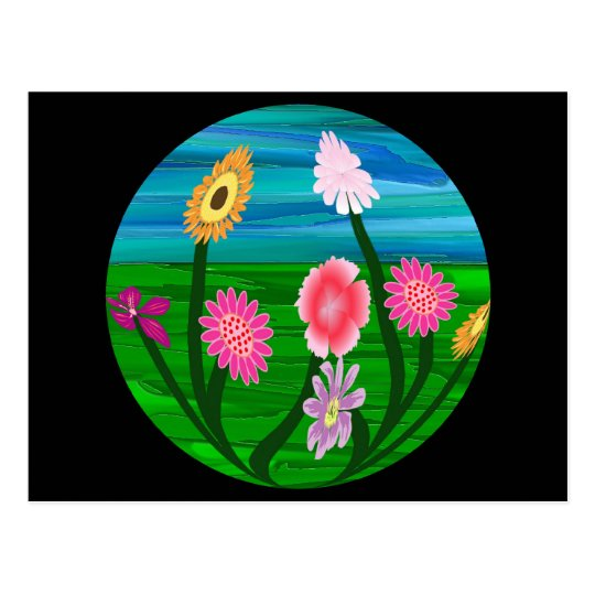 Flower Aquarium Postcard