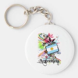 Flower Argentina Keychains