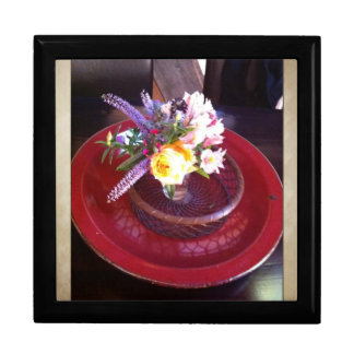 Flower arrangement at Esalen, Big Sur Trinket Box