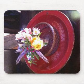 Flower arrangement at Esalen, Big Sur Mouse Pad