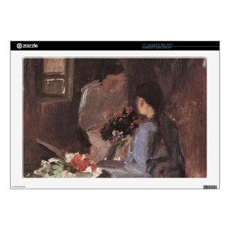Flower arrangement by Anna Ancher Decals For Laptops