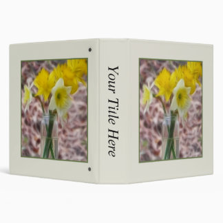 Flower Arrangement - Daffodils 3 Ring Binder