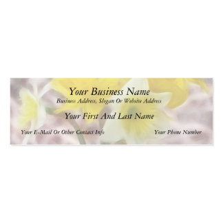 Flower Arrangement - Daffodils Double-Sided Mini Business Cards (Pack Of 20)
