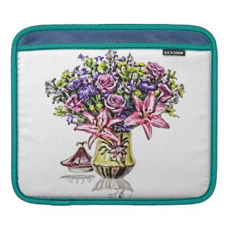 Flower Arrangement in Pink & Purple iPad Sleeve