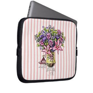 Flower Arrangement in Pink & Purple Computer Sleeve