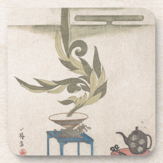 Flower Arrangement - Utagawa Itchinsai Beverage Coaster