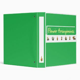 Flower Arrangements Compilation 3 Ring Binder