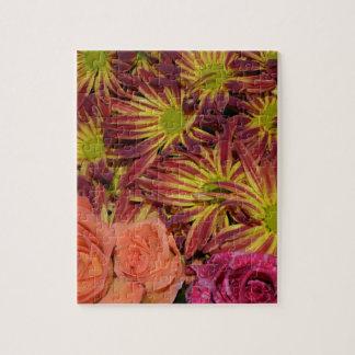 Flower Arrangements Mums Colorful Destiny Jigsaw Puzzle