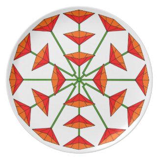 Flower Art 195 Melamine Plate