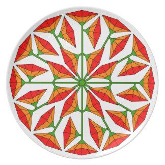 Flower Art 266 Dinner Plate
