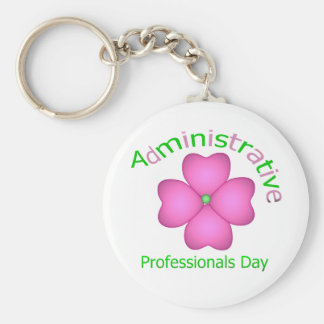 Flower Art Administrative Professionals Day Keychain