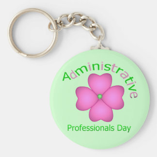 Flower Art Administrative Professionals Day Key Chain