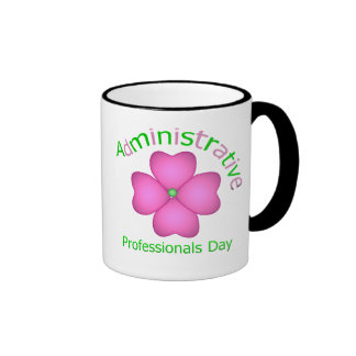 Flower Art Administrative Professionals Day Ringer Coffee Mug