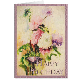 Flower Art Birthday Card