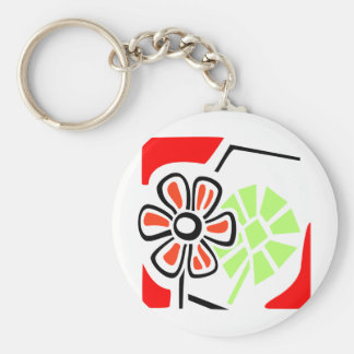 Flower Art Keychain