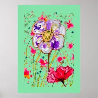 Flower Artwork Poster