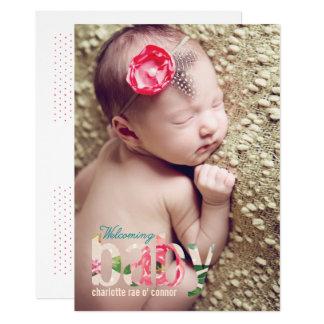 FLOWER BABY ANNOUNCEMENT