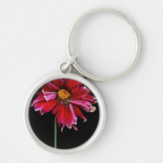 Flower - Bad hair day Silver-Colored Round Keychain