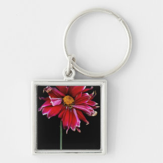Flower - Bad hair day Silver-Colored Square Keychain
