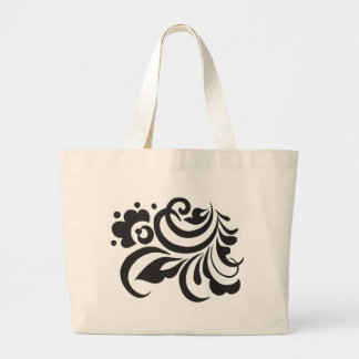flower jumbo tote bag