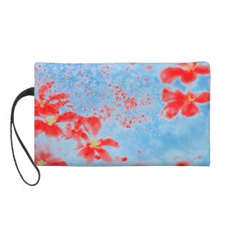 Flower Bagette Wristlet
