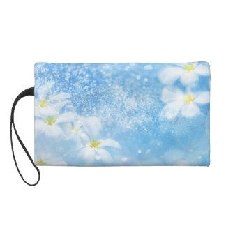 Flower Bagette Wristlet Purse