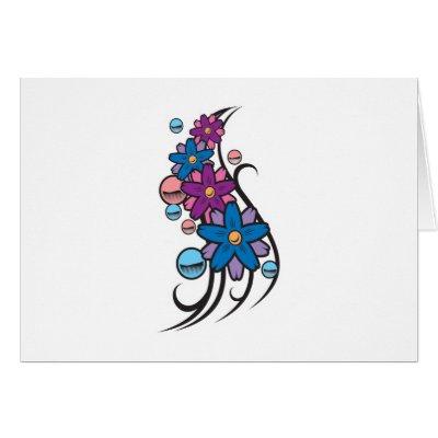 Flower Balls Tattoo Design Card by doonidesigns