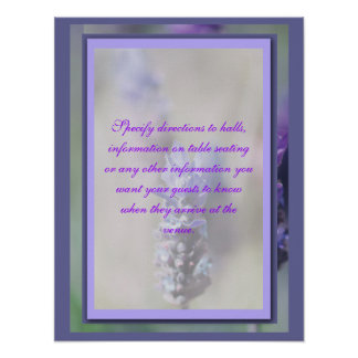 Flower banquets, functions direction signs