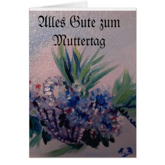 Flower basket after Orginalbild of Eva Borowski Greeting Cards