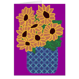 Flower basket blank card
