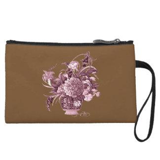 Flower Basket Wristlet Wallet