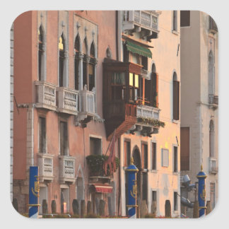 flower baskets and ornate Palace details, Italy Square Sticker