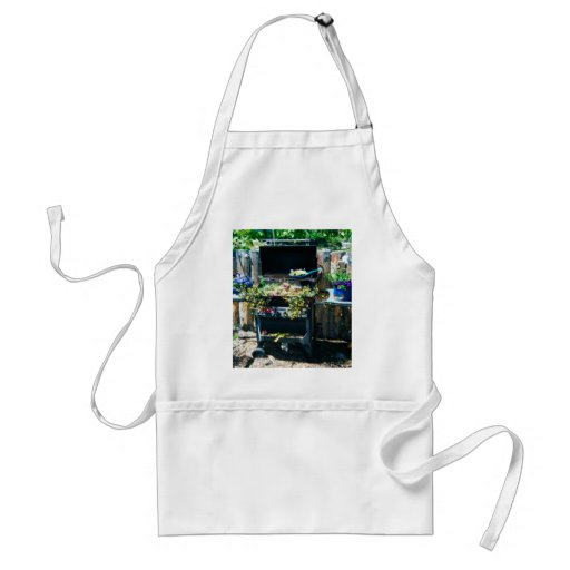 Flower BBQ Cooking Apron