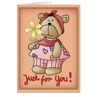 Flower Bear for You Cards
