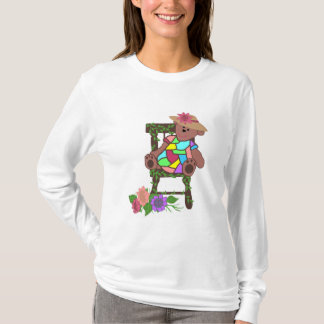 Flower bear in chair shirt