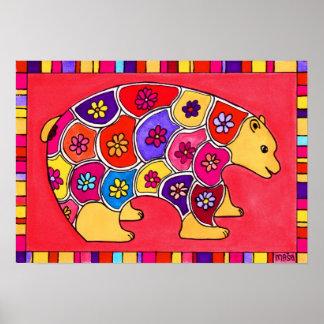 Flower Bear Poster