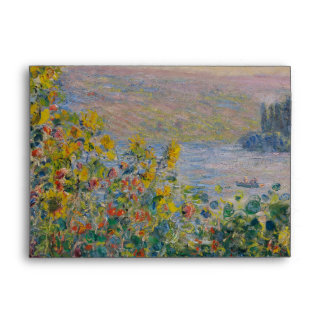 Flower Beds at Vetheuil by Claude Monet Envelope