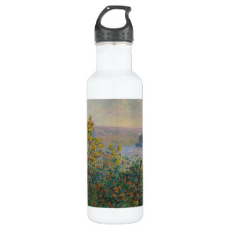 Flower Beds at Vetheuil by Claude Monet Stainless Steel Water Bottle