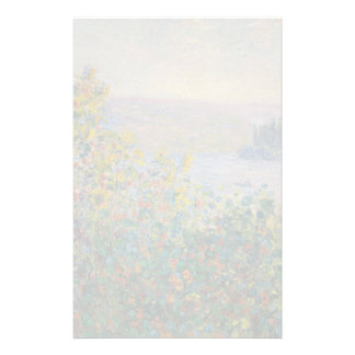 Flower Beds at Vetheuil by Claude Monet Stationery