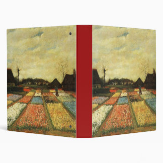 Flower Beds in Holland 3 Ring Binders