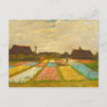 """Flower Beds in Holland by van Gogh Postcard<br><div class=""""desc"""">Flower Beds in Holland,  also known as Bud Fields,  was Vincent van Gogh's first garden painting.  Painted in 1883. The painting features an overview of geometrically laid out plots of white,  pink,  blue and yellow hyacinths.</div>"""