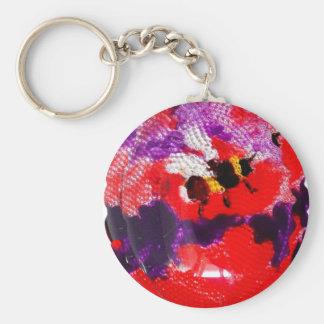 Flower Bee Colorful Art Keychain