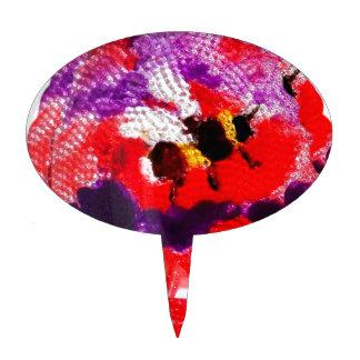 Flower Bee Floral Art Cake Topper
