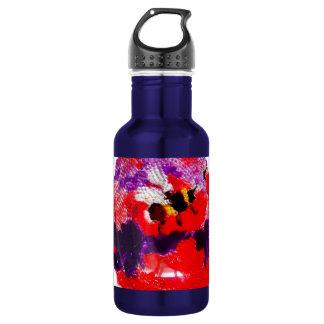 Flower Bee Floral Art Water Bottle