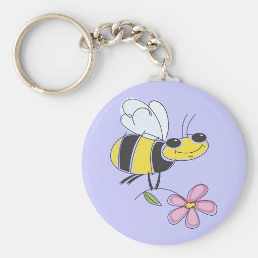 Flower Bee Keychain
