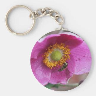 Flower & Bee Keychain