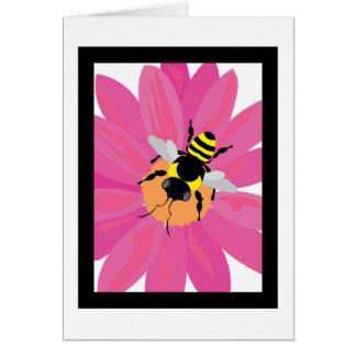 Flower & Bee Window Greeting Card