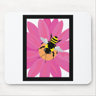 Flower & Bee Window Mouse Pad