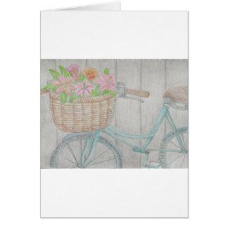 Flower bike card